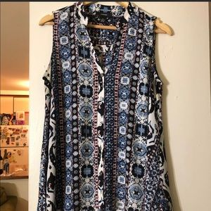 🌼Blouse Sale🌼Blue Printed Sleeveless Blouse Sale